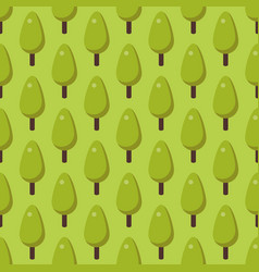 leaves of green trees seamless pattern vector image vector image