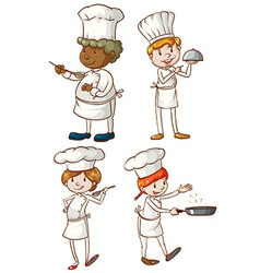 Male and female chefs vector image vector image