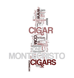 Montecristo cigars text background word cloud vector
