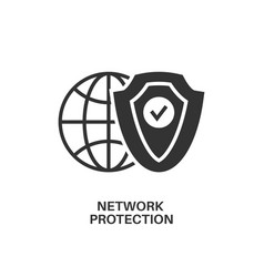 network protection icon vector image
