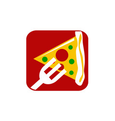 Pizza fork vector