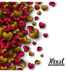 Realistic 3D Colorful Red and gold Romantic vector image vector image