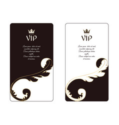 set of two elegant vertical business cards in vector image vector image