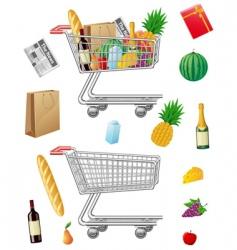 shopping cart vector image vector image