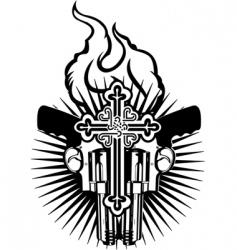 tattoo emblem vector image vector image