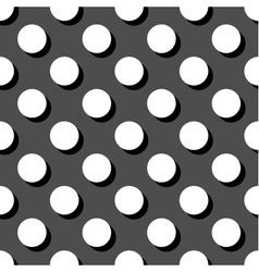 Tile white and grey polka dots pattern vector image vector image