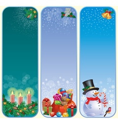 Vertical Christmas banners vector image vector image