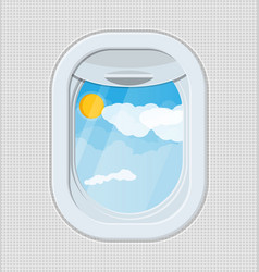 Window from inside the airplane vector