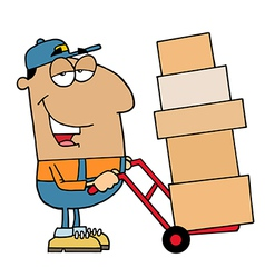 Friendly Hispanic Delivery Man vector image