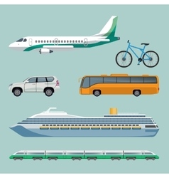 Fast transportation means set of modern transport vector