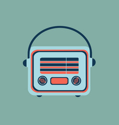 retro home electronics radio in vintage style vector image