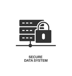 Secure data system icon vector