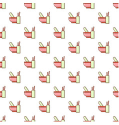 Mortar and pestle pattern seamless vector