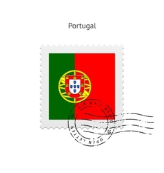 Portugal flag postage stamp vector