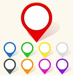 Colorful map pin icon in flat style vector