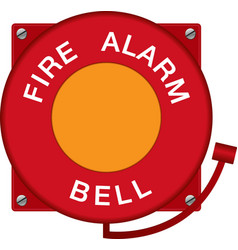Fire alarm bell vector