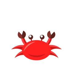 Cartoon funny crab isolated on white background vector