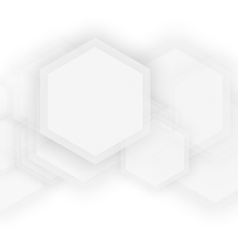 Abstract 3d hexagonal vector