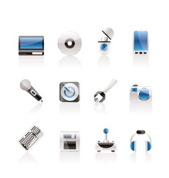 Computer and mobile phone equipment icons vector