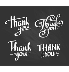 A set of style thank you design elements lettering vector
