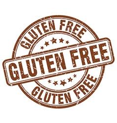 Gluten free brown grunge round vintage rubber vector
