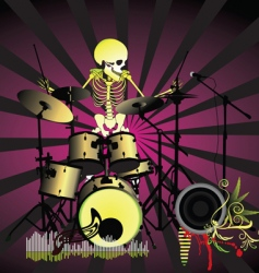 Music poster skeleton vector