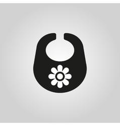 Bib icon design Breastplate and apron symbol vector image