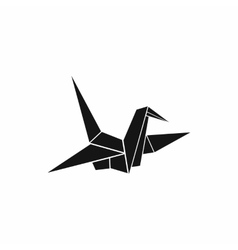 Bird origami icon simple style vector
