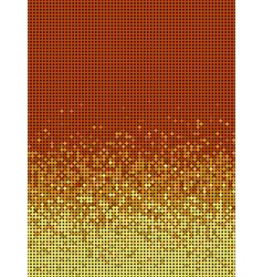 Bubble gradient pattern in orange and yellow vector