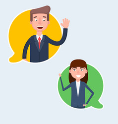 chatting with chatbot on phone online vector image