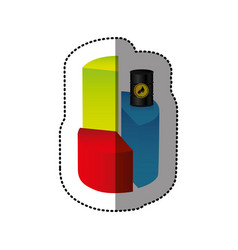 Color graph circular statistic with barrel of fuel vector