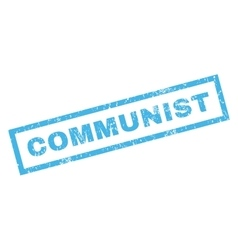 Communist rubber stamp vector