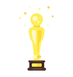 Flat style icon of movie reward vector
