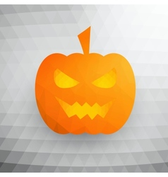 Halloween Pumpkin On Abstract Mosaic Background vector image vector image
