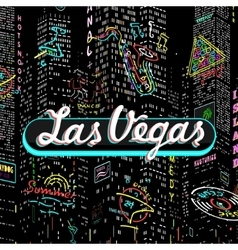 Inscription Las Vegas vector image vector image
