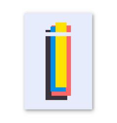 letter i poster vector image vector image
