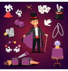 Magician set vector