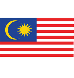Malaysia flag for independence day and vector