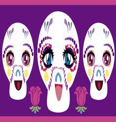 Manga skulls vector
