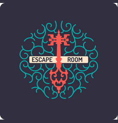 Real-life room escape and quest game poster vector