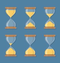 Sandglass Icons vector image