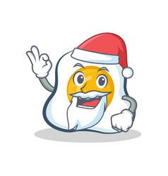 Santa fried egg character cartoon vector
