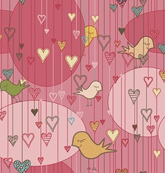 Seamless romantic pattern and background vector image vector image