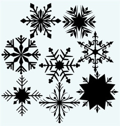 Set snowflake vector