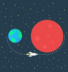 Simple mission to mars image vector