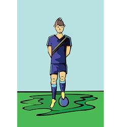Soccer Football Player Blue Sportswear vector image