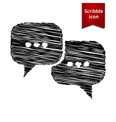 Speach bubles icon with pen effect vector