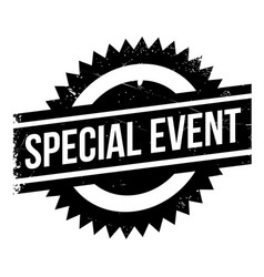 special event rubber stamp vector image