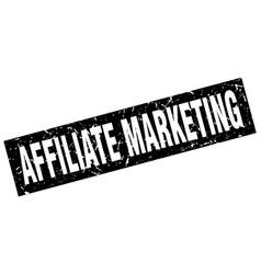 Square grunge black affiliate marketing stamp vector