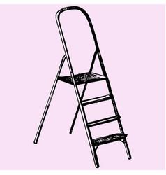 step ladder vector image vector image